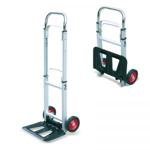 AT90 Portable Aluminium Folding Heavy Duty Sack Truck Transport Trolley Cart